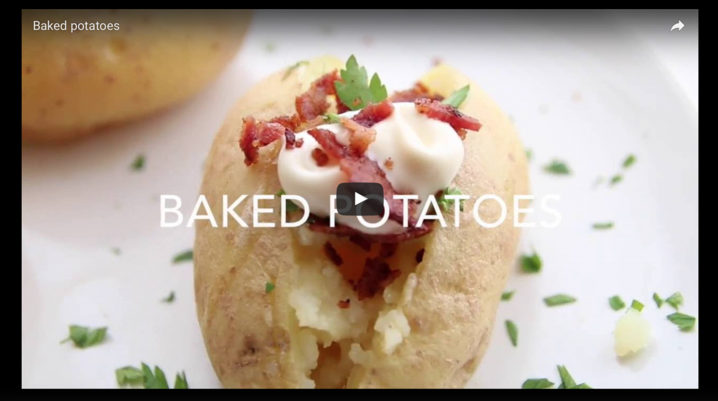 baked potatoes al microonde